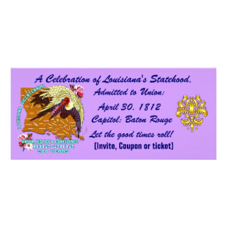 Bicentennial Louisiana Important See Notes Below Full Color Rack Card