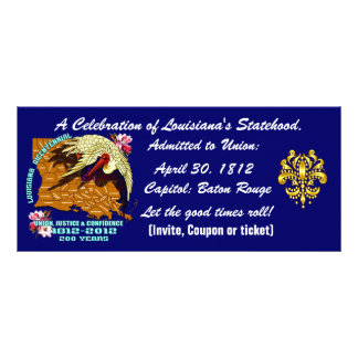 Bicentennial Louisiana Important See Notes Below Personalized Rack Card