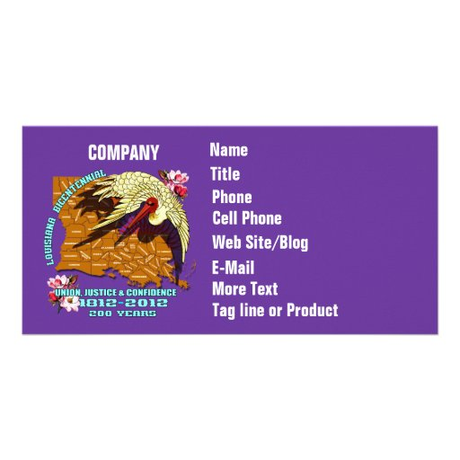 Bicentennial Louisiana Mardi Gras Party See Notes Custom Photo Card
