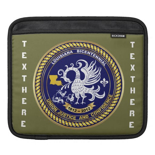 Bicentennial Louisiana Over 30 Colors See Notes iPad Sleeves