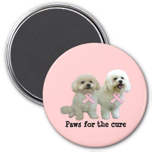 Bichon  Breast Cancer Magnet