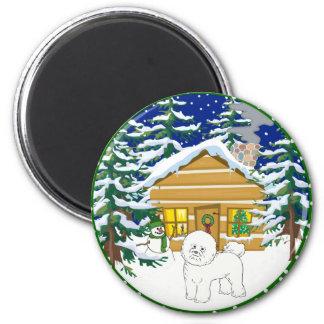 bichon cabin magnet