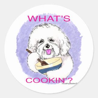 Bichon Cook Classic Round Sticker