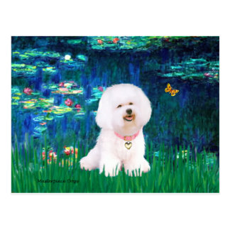 Bichon Frise 1 - Lilies #5 Postcard