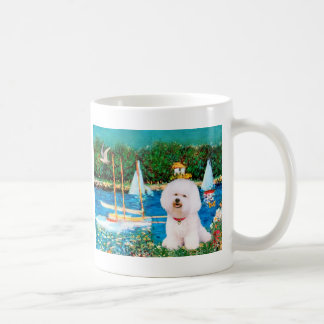 Bichon Frise 1 - Sailboats 1 Classic White Coffee Mug