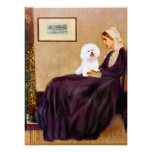 Bichon Frise 1 -  Whistlers Mother Poster