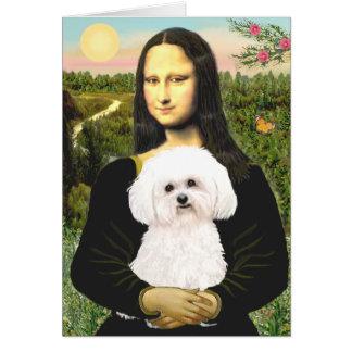 Bichon Frise 2R - Mona Lisa Cards