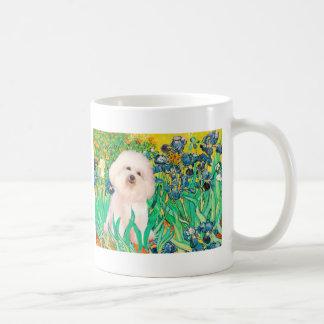 Bichon Frise 4  - Irises Classic White Coffee Mug