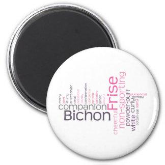 Bichon Frise 6 Cm Round Magnet