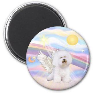 Bichon Frise Angel 6 Cm Round Magnet