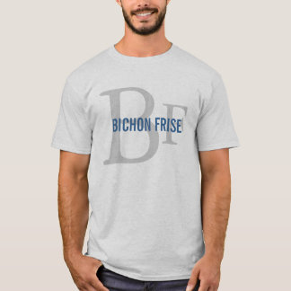 Bichon Frise Breed Monogram Design T-Shirt