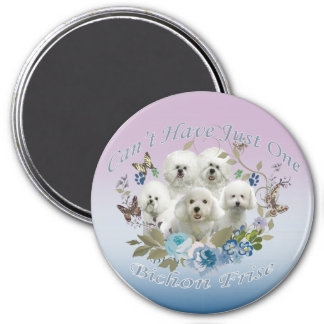 Bichon Frise Can't Have Just One Refrigerator Magnets