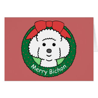 Bichon Frise Christmas Card