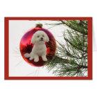 Bichon Frise Christmas Card Ball Hanging