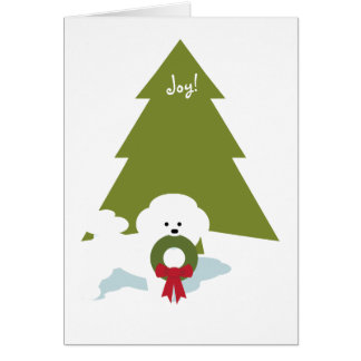 Bichon Frise Christmas Card -Joy!