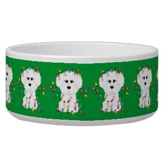 Bichon Frise Christmas Dog Bowl