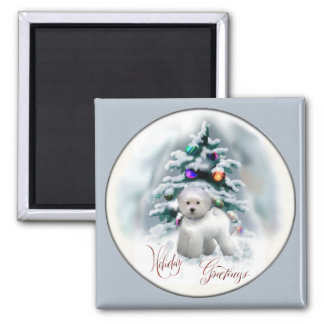 Bichon Frise Christmas Gifts Magnet