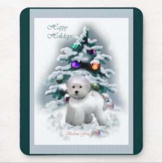 Bichon Frise Christmas Gifts Mouse Mat