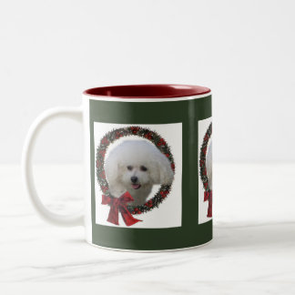 Bichon Frise Christmas Gifts Two-Tone Coffee Mug