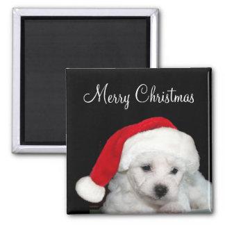 Bichon Frise Christmas Magnet
