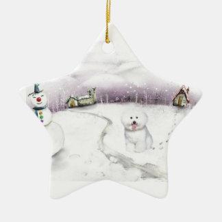 Bichon Frise Christmas ornament