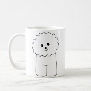 Bichon Frise, Cute Dog. Coffee Mug