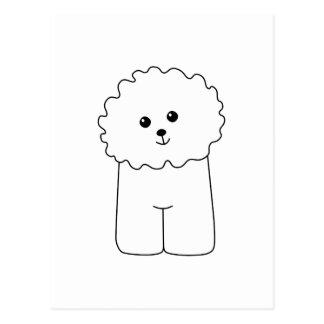 Bichon Frise, Cute Dog. Postcard