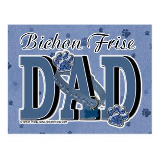 Bichon Frise DAD Postcard