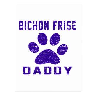 Bichon Frise Daddy Gifts Designs Postcard