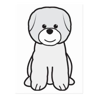Bichon Frise Dog Cartoon Post Cards