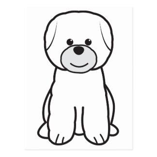 Bichon Frise Dog Cartoon Postcard