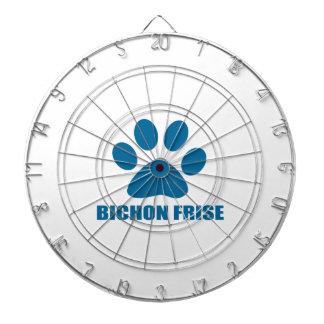 BICHON FRISE DOG DESIGNS DARTBOARD