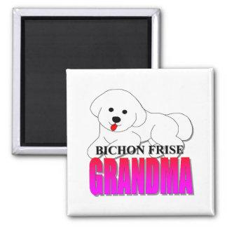 Bichon Frise Dog Grandma Square Magnet