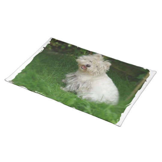Bichon Frise Dog Placemat