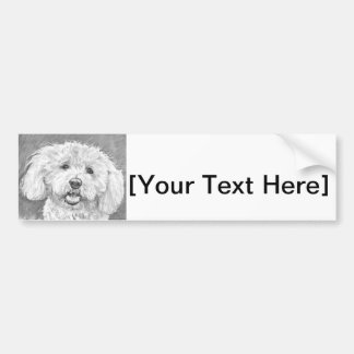 Bichon Frise Drawing Bumper Stickers