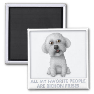 Bichon Frise Favorite Square Magnet