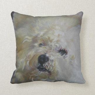 Bichon Frise Fine Art Painting Cushion