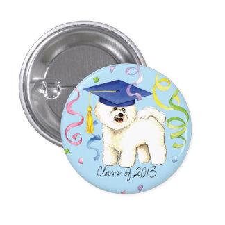 Bichon Frise Graduate Pinback Buttons