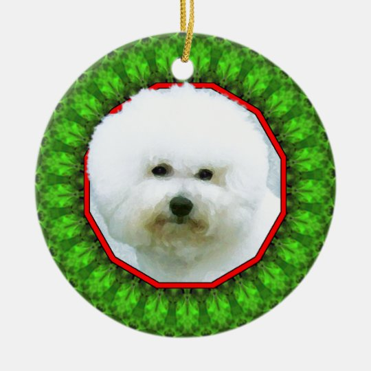 Bichon Frise Happy Howliday Christmas Ornament