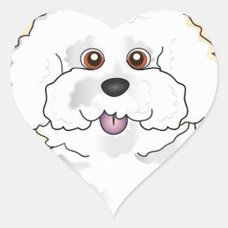 Bichon Frise Heart Sticker