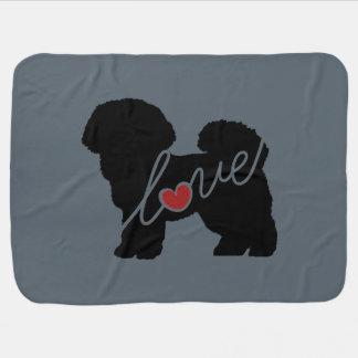 Bichon Frise Love Baby Blanket