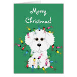 Bichon Frise Merry Christmas Card
