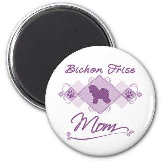 Bichon Frise Mom 6 Cm Round Magnet