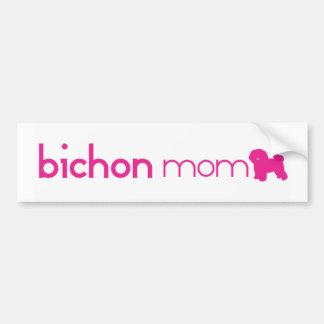 Bichon Frise Mom Bumper Sticker