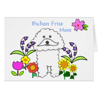 Bichon Frise Mom Card