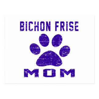 Bichon Frise Mom Gifts Designs Post Cards