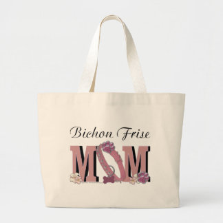 Bichon Frise MOM Large Tote Bag