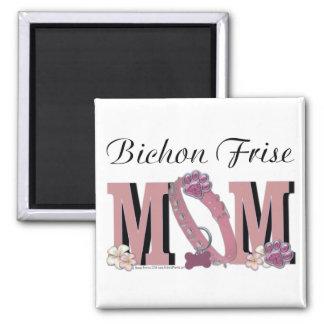 Bichon Frise MOM Square Magnet