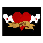 Bichon Frise Mum [Tattoo style] Postcard