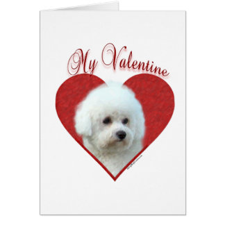 Bichon Frise My Valentine Card